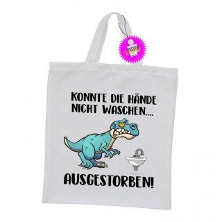 Konnte die Hände nicht Waschen... - Einkaufstasche mit Spruch / Sprüche / Witzige / Lustige / Bedruckt