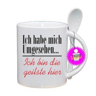 Ich habe mich Umgesehen... - Lustige Tasse mit Spruch / Sprüche / Löffel / Geschenk