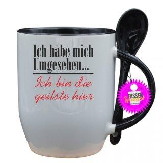 Ich habe mich Umgesehen... - Tasse mit Spruch / Lustige / Sprüche / Löffel / Liebe/  Büro