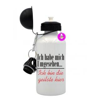 Ich habe mich Umgesehen... - Trinkflasche mit Spruch / Lustige / Sprüche / Aluminium