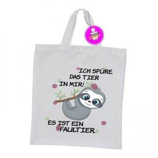 ICH SPÜRE DAS TIER IN MIR! - Einkaufstasche mit Spruch / Sprüche / Witzige / Lustige / Bedruckt